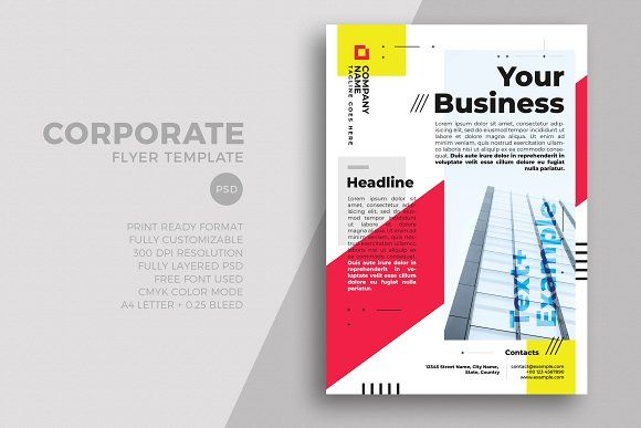 Corporate Business Flyer Template By Eightonesix On