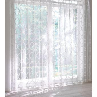 モロッコタイル柄レースカーテン(2枚組) 通販 - ディノス