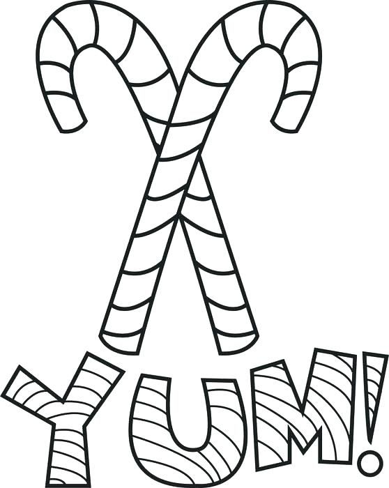 Candy Cane Coloring Pages | Candy cane coloring page ...