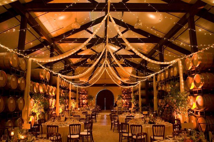 California Winery Wedding Reception
