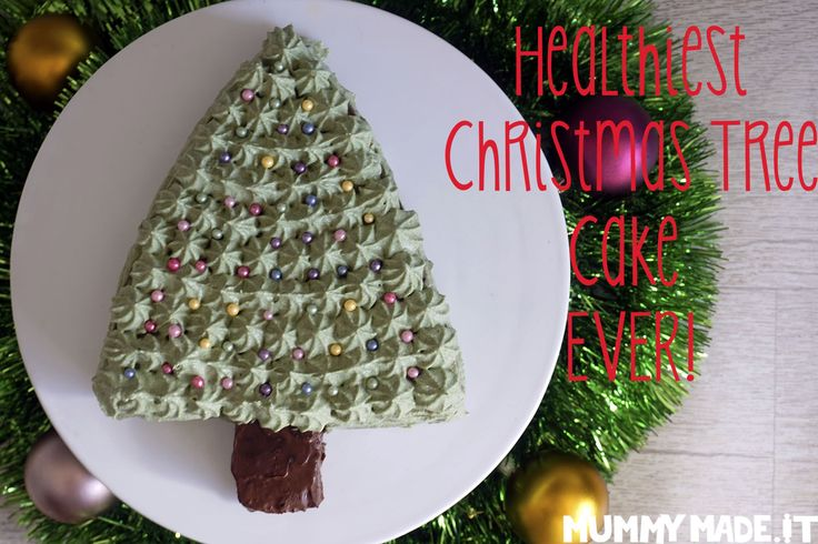 The Healthiest Christmas Tree Cake EVER! is Gluten Free, Dairy Free, Paleo, Nut Free, refined Sugar Free and made with 2 vegetables!
