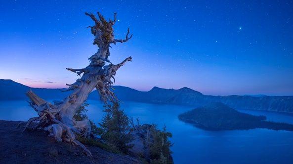 Noche en el Lago de Oregon