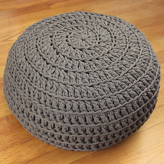 Free Crochet Pattern: POOF! Floor Pillow Pouf Ottoman
