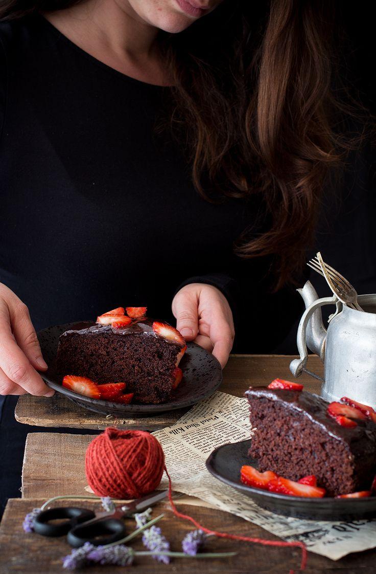 Torta rustica cioccolato e fragole