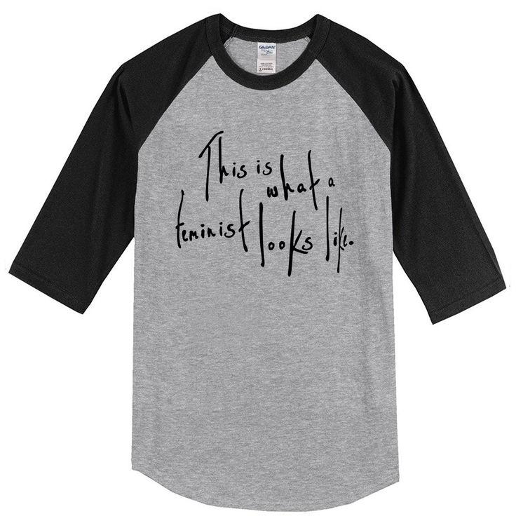 2017 summer hip hop three-quarter sleeve tops This Is What a Feminist Looks Like men camisetas raglan bodybuilding T Shirts tees #Affiliate