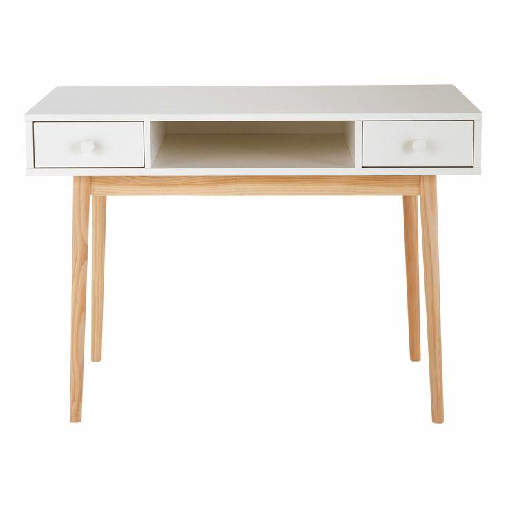 Schreibtisch Mit 2 Schubladen, Weiß Jetzt Bestellen Unter: Https://moebel.