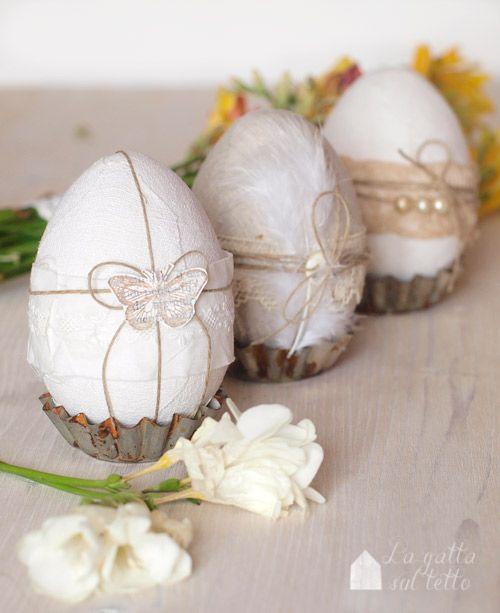 La gatta sul tetto: Uova di Pasqua bianche e chic