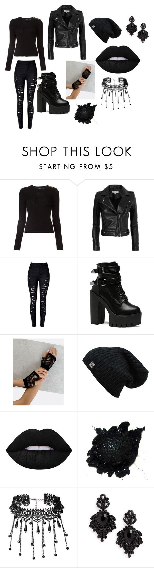 My favorite color by blackravenlove on Polyvore featuring Derek Lam, IRO, Tasha and Lime Crime