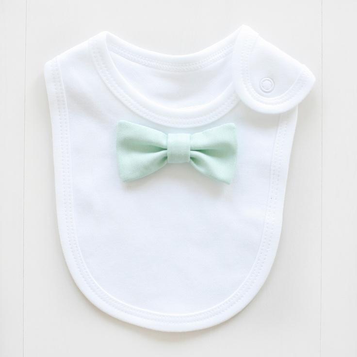 handmade bow tie baby bib