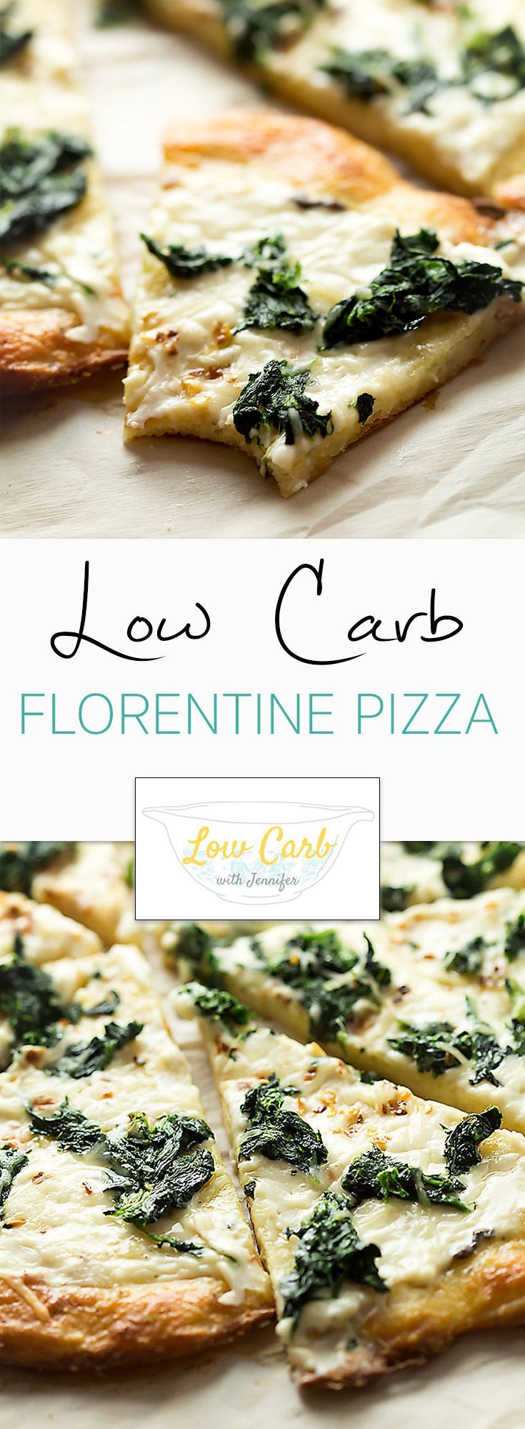 Low Carb Florentine Pizza. This should be the new standard for all pizzas! The crust is amazing and doesn't require a fork!