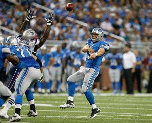 looking at the QB situation for the Detroit Lions in 2013