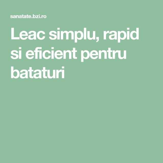 Leac simplu, rapid si eficient pentru bataturi