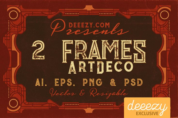 2 ArtDeco Frames | Deeezy - Freebies with Extended License