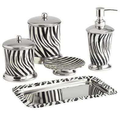 Zebra Bath Accessories, for my girl who loves Zebra print! ♥ Jessica