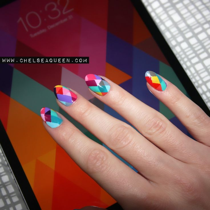 iPad Background Inspired Nail Art
