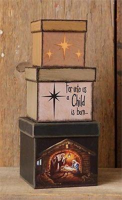 Nativity Nesting Boxes