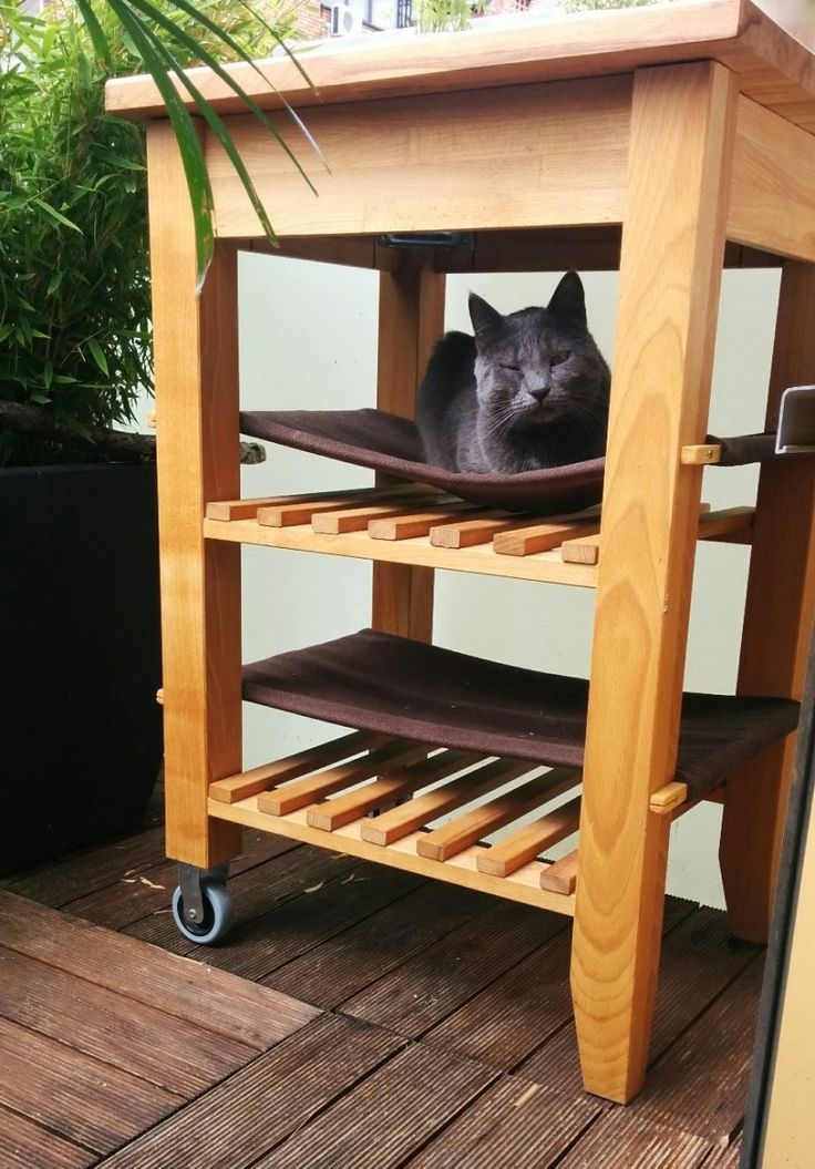 Cat Hammock From The Ikea BEKVAM Kitchen Cart