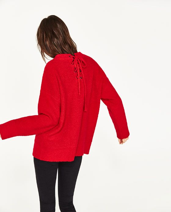 Image 6 of MAXI SWEATER WITH BOW AT THE BACK from Zara