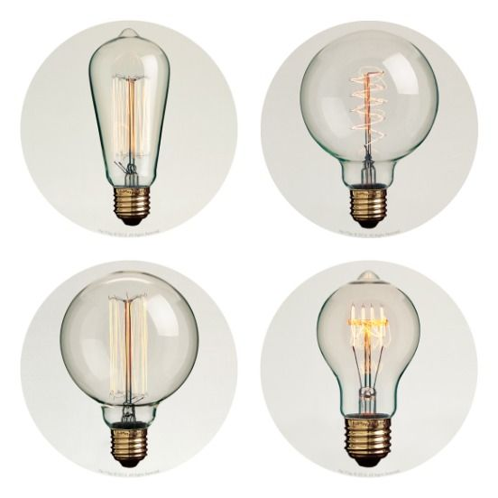 Thomas Edison style vintage lightbulbs from Hoi P'loy