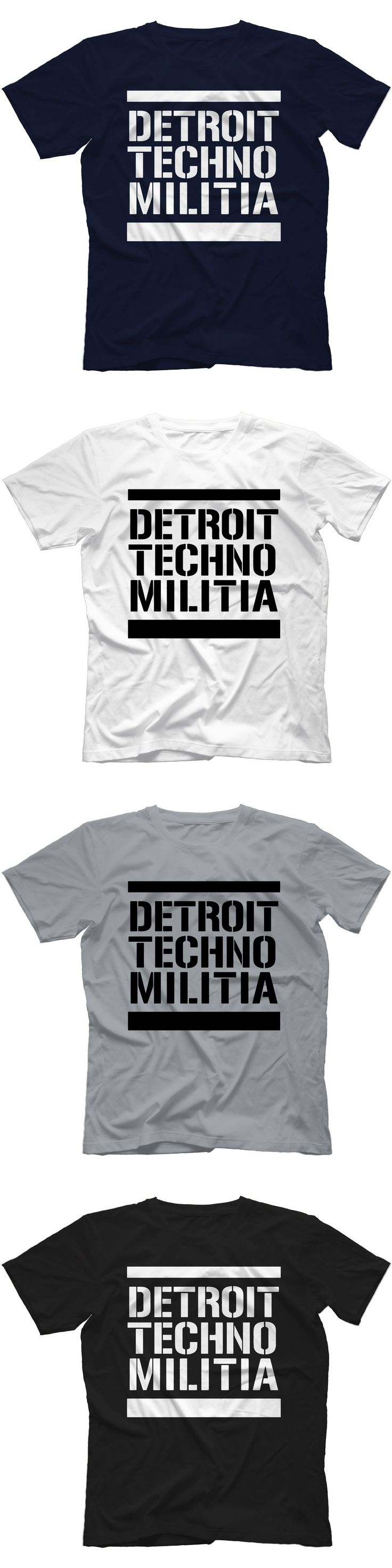 "Detroit Techno Militia T-Shirt 100% Cotton Vinyl 909 Underground Resistance ""Sleeves Cotton Fashion T Shirt Free Shipping """
