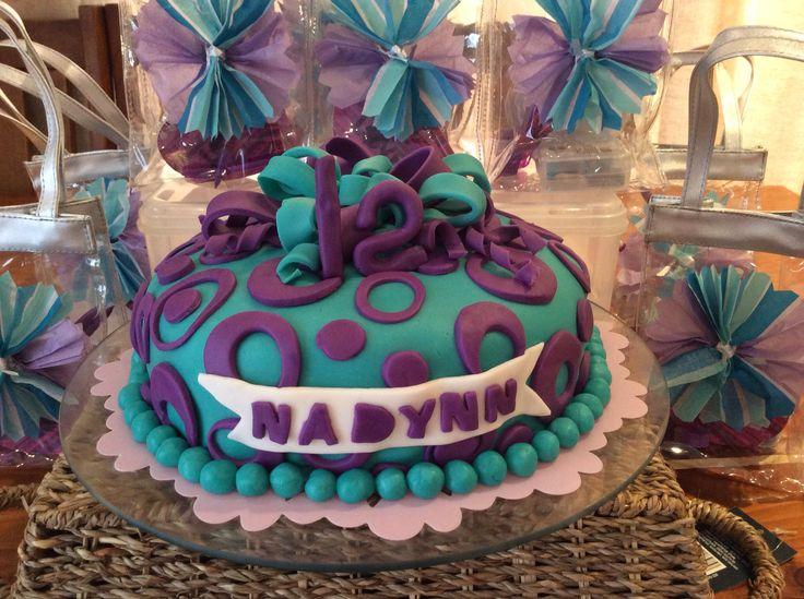 Purple and blue mocha cake