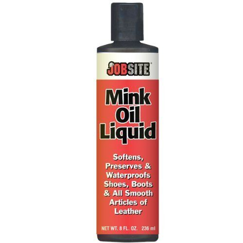 Mink Oil Leather Waterproof Liquid by FootMatters. $6.29. Active cleaners and conditioners include mink oil, silicone, lanolin and pure Neatsfoot oil.. Apply freely and work into material, particularly around seams and stitching.. Ideal for all articles of leather and vinyl shoes, boots, jackets, belts, bags and purses. Apply freely and work into material, particularly around seams and stitching. Allow a few minutes to absorb and then wipe off excess. Active cleaners and cond...