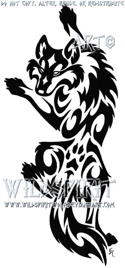 Tribal Wolf Tattoo | Climbing Tribal Wolf Tattoo by ~WildSpiritWolf on deviantART