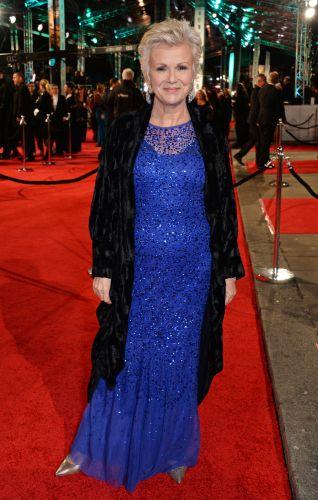 Six-time BAFTA winner Julie Walters brought the sparkle in this flashy royal blue dress under a long black cardigan.(Photo by David M. Benett/Dave Benett/Getty Images)                                     via @AOL_Lifestyle Read more: http://www.aol.com/article/2016/02/15/2016-bafta-award-winners-the-complete-list/21312692/?a_dgi=aolshare_pinterest#slide=3798351|fullscreen