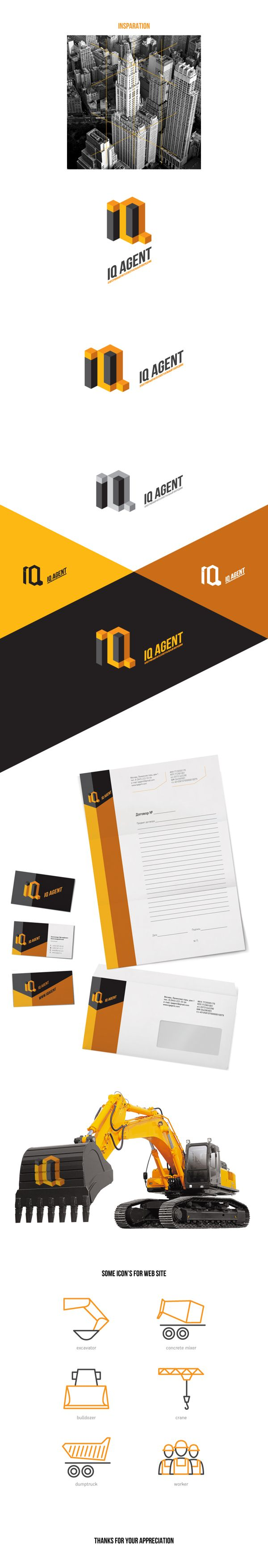 IQ Agent identity | Zdesigner: Paul Glazkov | #stationary #corporate #design #corporatedesign #logo #identity #branding #marketing <<< repinned by an #advertising agency from #Hamburg / #Germany - www.BlickeDeeler.de | Follow us on www.facebook.com/BlickeDeeler