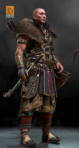 Game Character Design by Dhruva's best Character Artist Hitansu