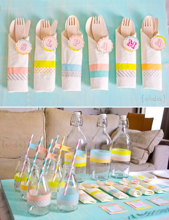 Washi tape decorations