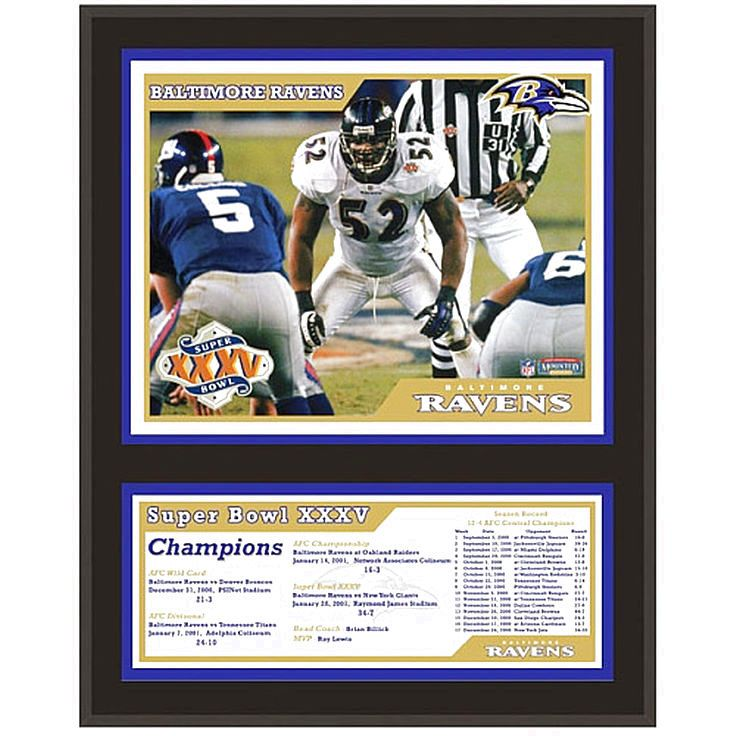 "Baltimore Ravens Fanatics Authentic 12"" x 15"" Super Bowl XXXV Sublimated Plaque - $31.99"