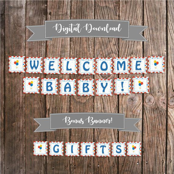 Circus Theme Banner - Baby Shower Banner - Circus Baby Shower Decoration - Digital Shower Sign - Welcome Baby Banner - Gift Banner Printable