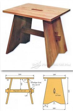 Stool Plans - Furniture Plans and Projects   WoodArchivist.com