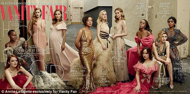 Vanity Fair has been praised for featuring a number of black actresses on its annual Holly...