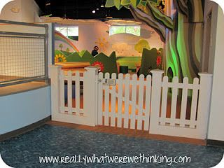 I really like this fencing idea if my next house has a large opening for the room that I plan to use as a playroom. Instead of a door or leaving it open, a fence is adorable.
