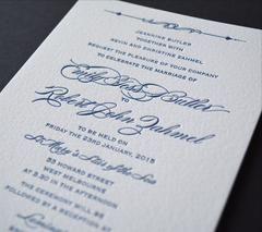 Letterpress Invitation from Melbourne Bespoke Invitation Company Inspired Design.