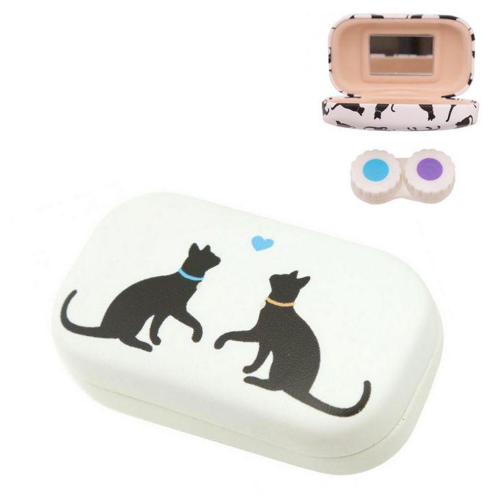 gattosa scatolina con specchio porta lenti a contatto     www.gattosi.com