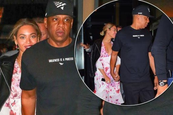 Jay Z takes Beyonce out on a dinner date hours after addressing 'Lemonade' cheating rumours in new song (photos)   Jay Z took his wife Beyonce on a dinner date just hours after addressing rumours he cheated on her in a new song with Fat Joe. The track has got everyone talking since it dropped exclusively on Tidalon Tuesday. Hours later Jay Z was spotted holding hands with a smiling Beyonce in New York as they went on a dinner date. More photos after the cut..