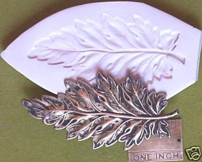 BEAUTIFUL LARGE LEAF  ~ CNS polymer clay mold mould art
