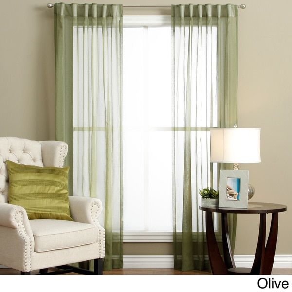 Lucerne Wanda Pleat Back Tab Curtain Panel Pair