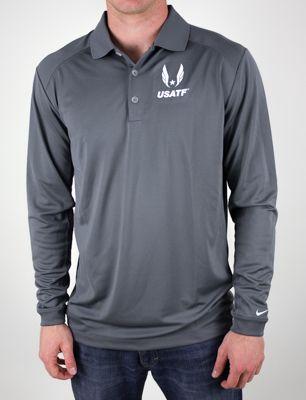 Product image: Nike USATF Men's Victory Long Sleeve Polo