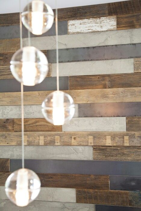 Custom feature wall and beautiful Bocci 14s