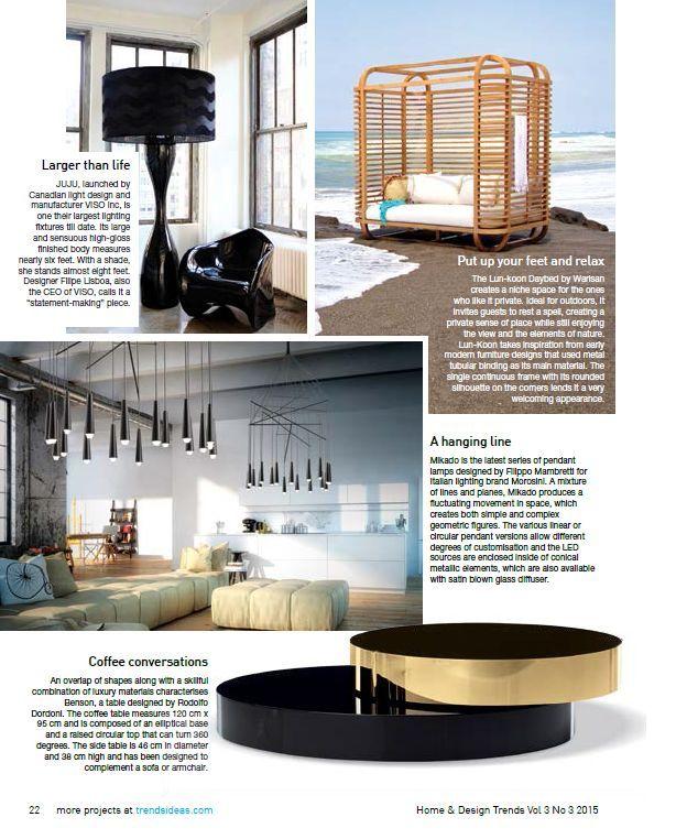 Mikado collection design Filippo Mambretti on HOME & DESIGN TRENDS magazine 06/2015