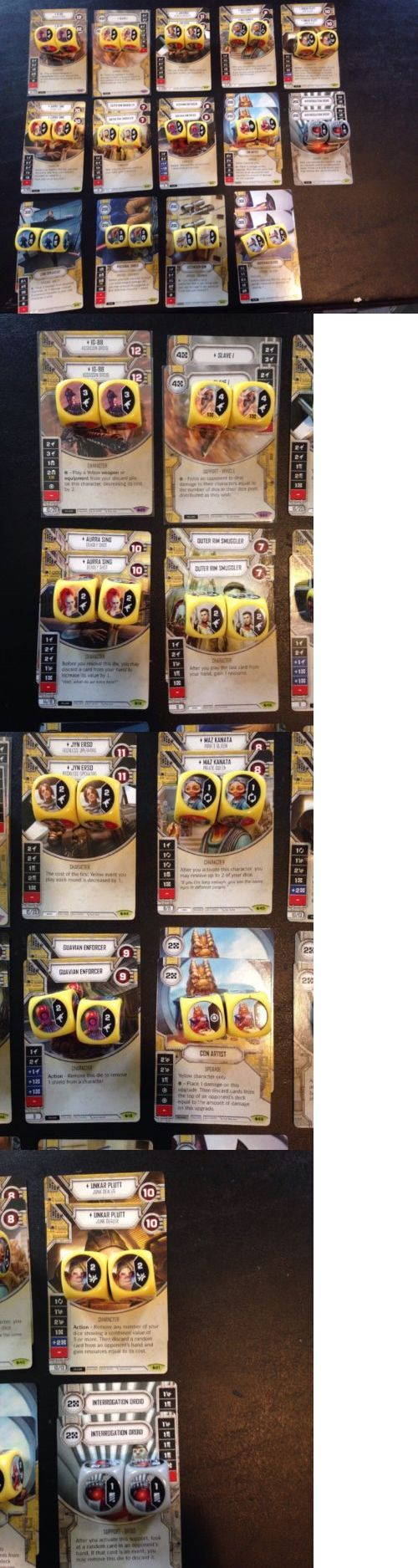 CCG Individual Cards 183454: Star Wars Destiny Sor Ig-88 Slave 1 Jyn Maz Yellow Lot Collection 28 Dice! -> BUY IT NOW ONLY: $174.99 on eBay!
