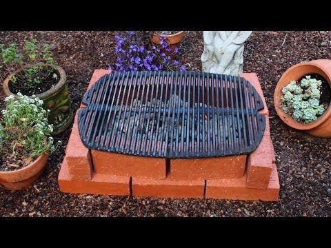 ▶ How to Make a Brick Grill - DIY Temporary Brick Hibachi Grill - YouTube