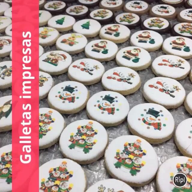 Escoge el diseño de tus galletas para Navidad en este link.   $9 c/u moneda de galleta de 4.5 cms diámetro  $20 c/u galleta de 7 cms diámetro   15% descuento pago en efectivo   http://s.ripl.com/pdjy41    #galletas #impresas #galletasdecoradas #galletasnavidad #galletaspersonalizadas #navidad
