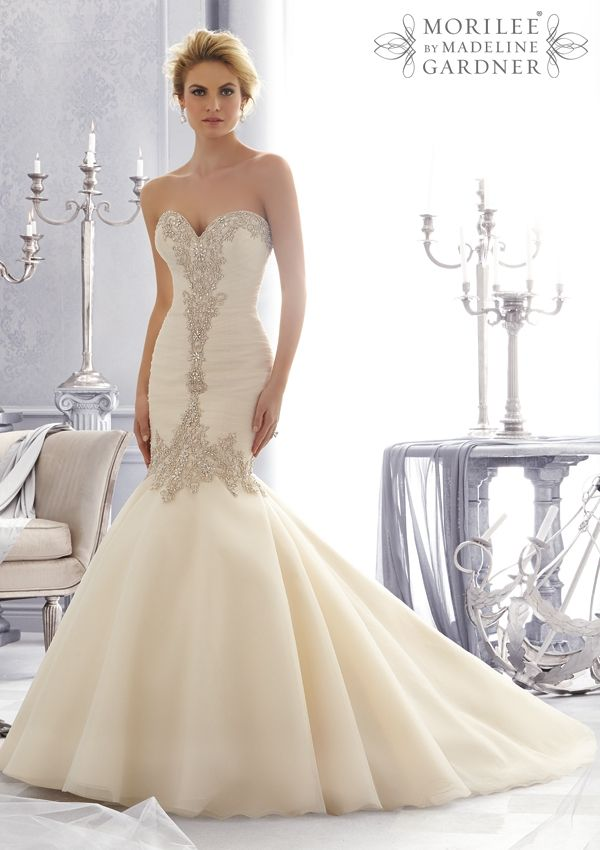The Mori Lee collection offers luxurious dresses with the focus on contemporary, 'on-trend' designs. All dresses of this collection are made from crystals, embr