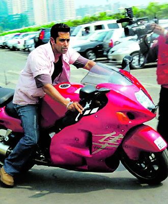 salman khan with his bike - Google Search