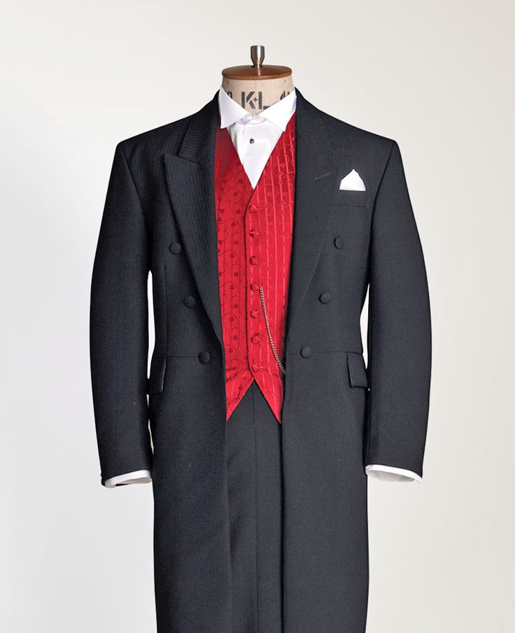 Suit hire for the groom - Suit hire direct - black frockcoat also available in Navy. Any frockcoat, matching trousers, waistcoat, shirt, any neckwear and handkerchief £95